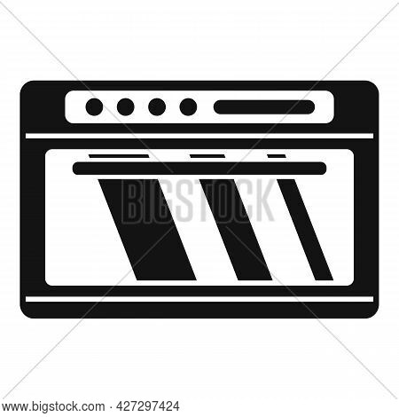 Gas Convection Oven Icon Simple Vector. Electric Grill Stove. Fan Convection Oven