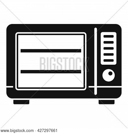 Old Microwave Icon Simple Vector. Electric Convection Oven. Fan Kitchen Stove