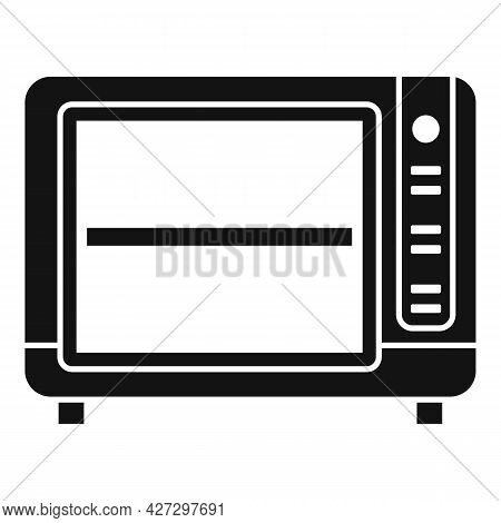 Convection Oven Timer Icon Simple Vector. Cook Stove. Electric Kitchen Oven
