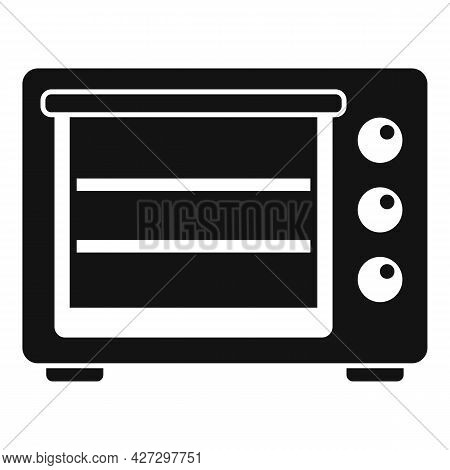 Turbo Convection Oven Icon Simple Vector. Electric Grill Stove. Gas Fan Oven