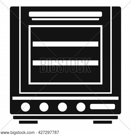 Fire Oven Icon Simple Vector. Convection Grill Stove. Electric Kitchen Oven