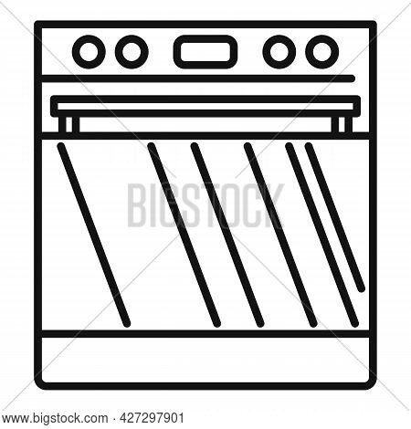 Digital Convection Oven Icon Outline Vector. Electric Grill Stove. Kitchen Convection Oven