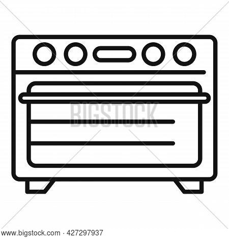 Kitchen Convection Oven Icon Outline Vector. Electric Grill Stove. Gas Convection Oven