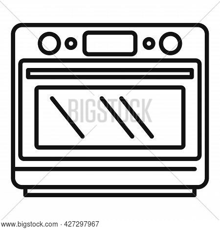 Convection Grill Oven Icon Outline Vector. Electric Kitchen Stove. Gas Fan Oven