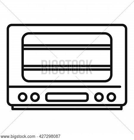Cooker Oven Icon Outline Vector. Electric Convection Stove. Grill Oven