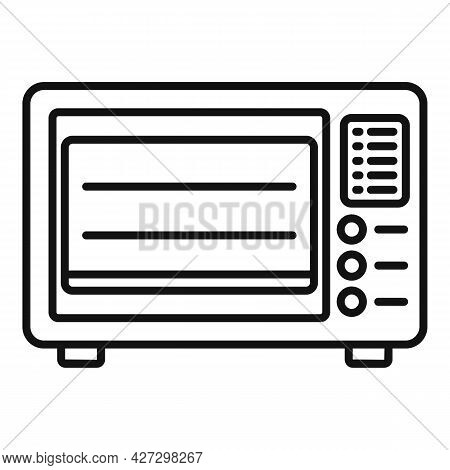 Baking Oven Icon Outline Vector. Kitchen Stove. Gas Grill Cooker