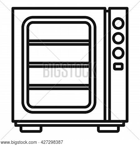Oven Convection Technology Icon Outline Vector. Gas Fan Stove. Cooking Convection Oven
