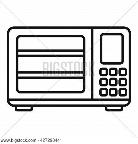 Induction Oven Icon Outline Vector. Convection Electric Stove. Grill Fan Oven