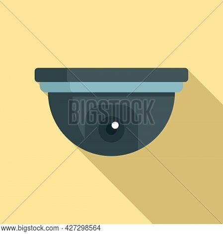 Indoor Security Camera Icon Flat Vector. Movie Camcorder. Security Camera