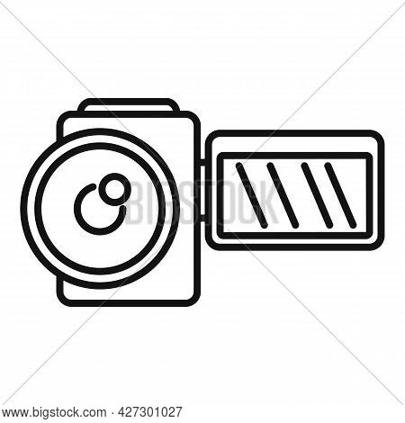 Home Camcorder Icon Outline Vector. Camera Movie. Tv Production