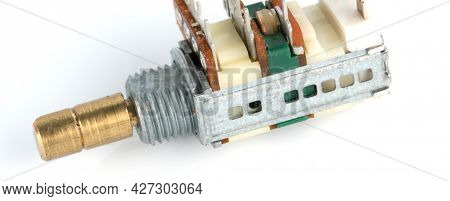 Radio electronic components on white