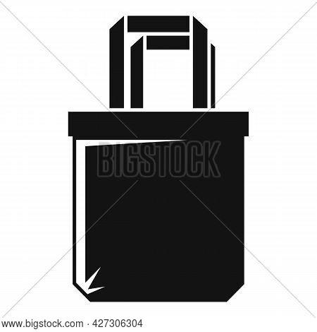 Reusable Eco Bag Icon Simple Vector. Fabric Cotton Cloth. Canvas Eco Bag