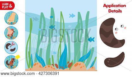 Cut Glue Platypus Children Paper Application Game