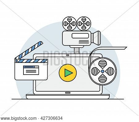 Online Profession With Learning Platform For Videographer Skill Development And Computer Interface D