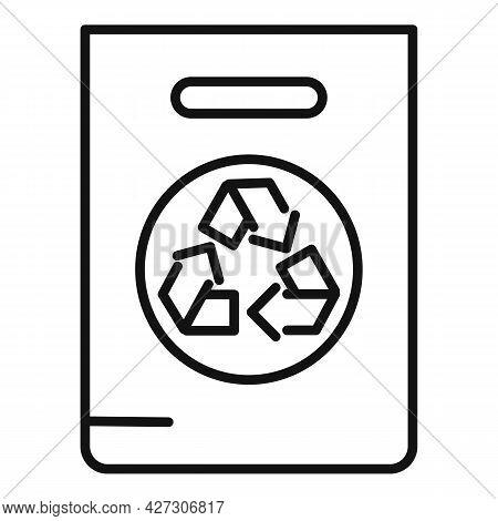 Recycle Bag Icon Outline Vector. Eco Reusable Bag. Canvas Handbag