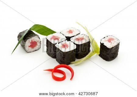 Maguro Maki Sushi - Roll with Fresh Tuna