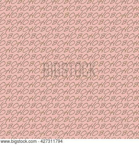 Vector Lettering Boho Ocher Pink Repeat Pattern