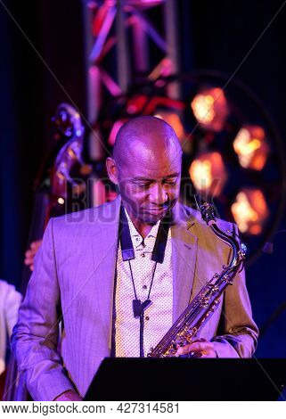 Cracow, Poland - July 11, 2021: Branford Marsalis Quartet Live At 26rd Edition Of The Summer Jazz Fe