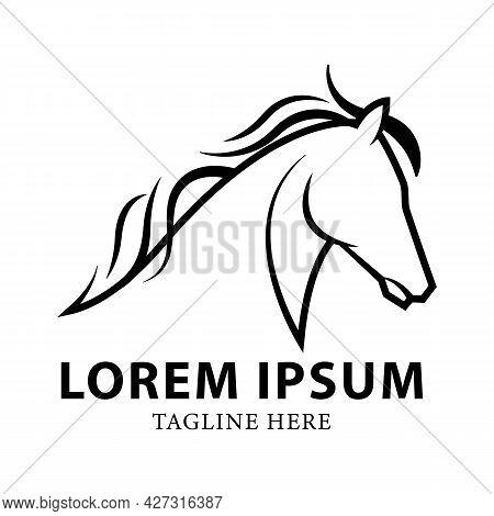 Horse Logo Vector Design Template. Horse Race Logo Design.