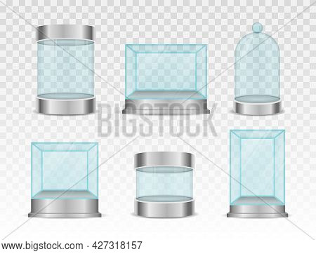 Glass Box Cylinder, Crystal Cube For Showcases.