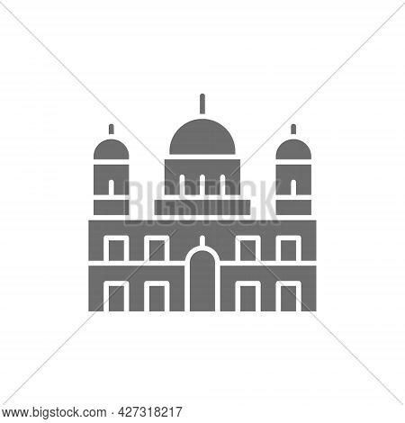 Berlin Cathedral, Landmark Of German Grey Icon.