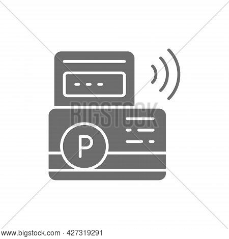 Vector Parking Payment, Parking Ticket Grey Icon.