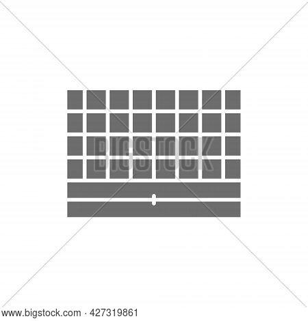 Vector Chess Board, Portable Game Grey Icon.