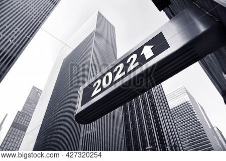 Concept Background For An Successfully Year 2022, Manhattan