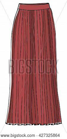Fashionable Maxi Skirt, Bohemian Or Classic Style