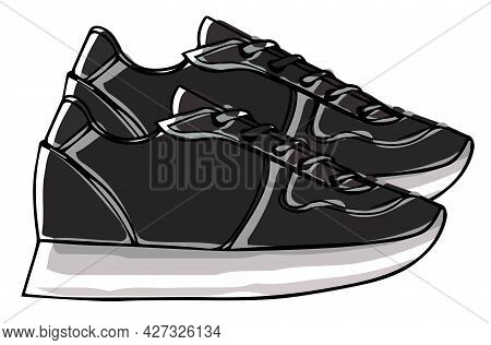 Massive Sneakers With Lace, Sportive Casual Shoes