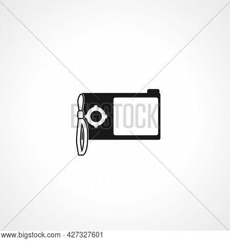 Photo Camera Icon. Photo Camera Isolated Simple Vector Icon.