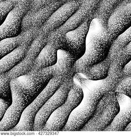 Seamless Noise Splatter Pointillism Wavy Pattern Swatch