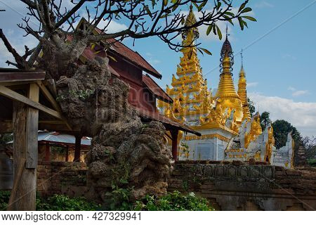 Sam Kar. Myanmar. November 29, 2016. The Architecture Of The Surroundings Of An Ancient Buddhist Tem