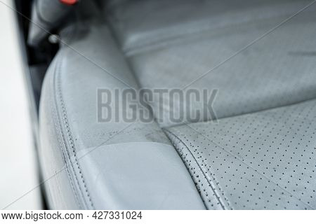 Before And After Effect After Cleaning Leather Car Seat