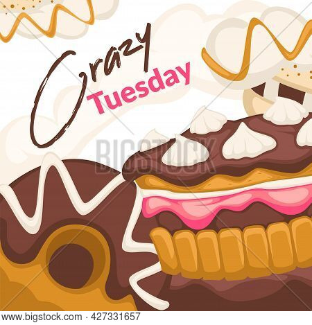 Crazy Tuesday, Promotion Banner Sale In Bakery