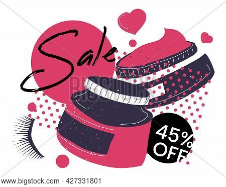 Cosmetic Products Sale And Discounts, Promo Banner