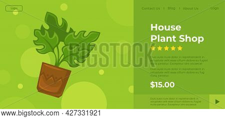 House Plant Shop, Online Store With Catalog Info
