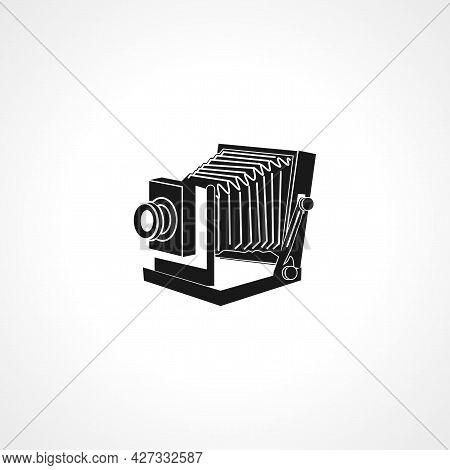 Vintage Photo Camera Icon. Vintage Photo Camera Isolated Simple Vector Icon.