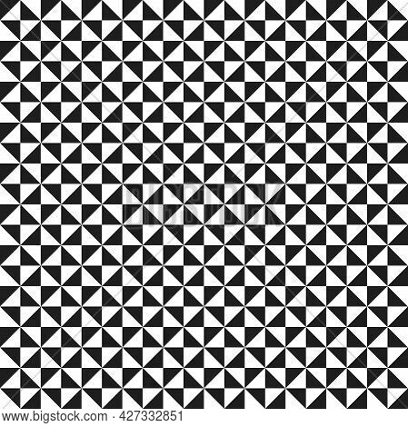 Geometric Vector Pattern With Triangles. Geometric Modern Black And White Ornament. Seamless Abstrac