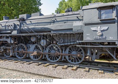 Rare Nazi Retro Steam Locomotive Of The Past Century In The Vehicle Museum