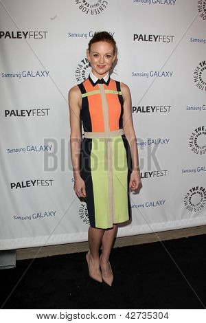 LOS ANGELES - FEB 27:  Jayma Mays arrives at the PaleyFest Icon Award 2013 at the Paley Center For Media on February 27, 2013 in Beverly Hills, CA