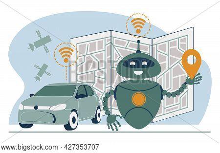 Driverless Transport Legislation Abstract Concept Vector Illustration Set. Artificial Intelligence R