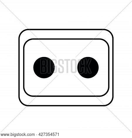 Socket Icon Illustration. Isolated On White Background.