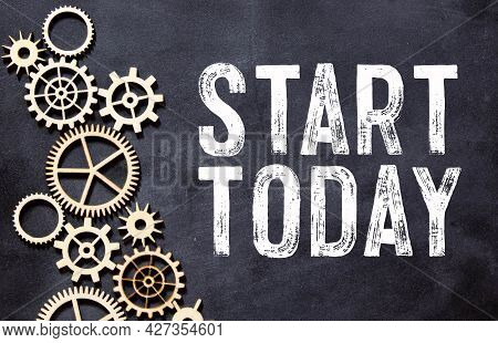 Text Sign Showing Start Today. Conceptual Photos Initiate Begin Right Now Inspirational Motivational