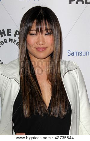LOS ANGELES - FEB 27:  Jenna Ushkowitz arrives at the PaleyFest Icon Award 2013 at the Paley Center For Media on February 27, 2013 in Beverly Hills, CA