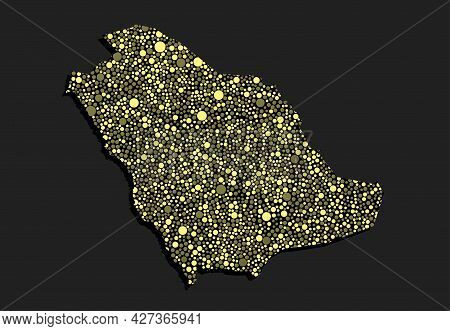 Creative Map Saudi Arabia From Random Dots