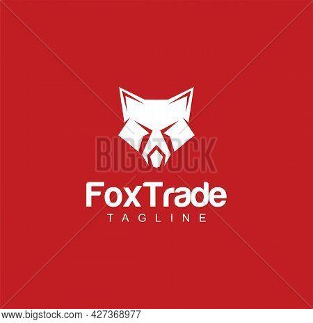 Creative Abstract Fox Logo Design Silhouette Vector Illustration. Wolves Wolf Head Logo Icon Templat
