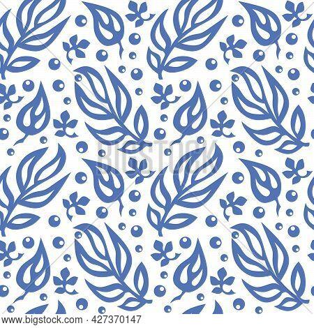 Seamless Pattern. Traditional Folk Ornament. Hand Drawn Vector Illustration