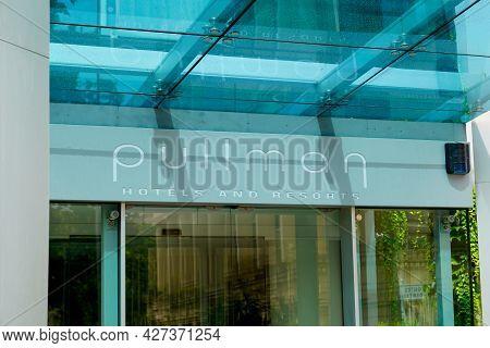 Montpellier , Ocitanie France  - 06 25 2021 : Pullman Hotel Logo Brand And Text Sign Resorts Interna