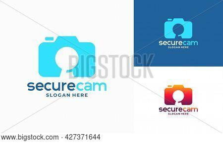 Cctv Camera Logo Template Design Vector, Secure Cam Logo Template Icon Symbol